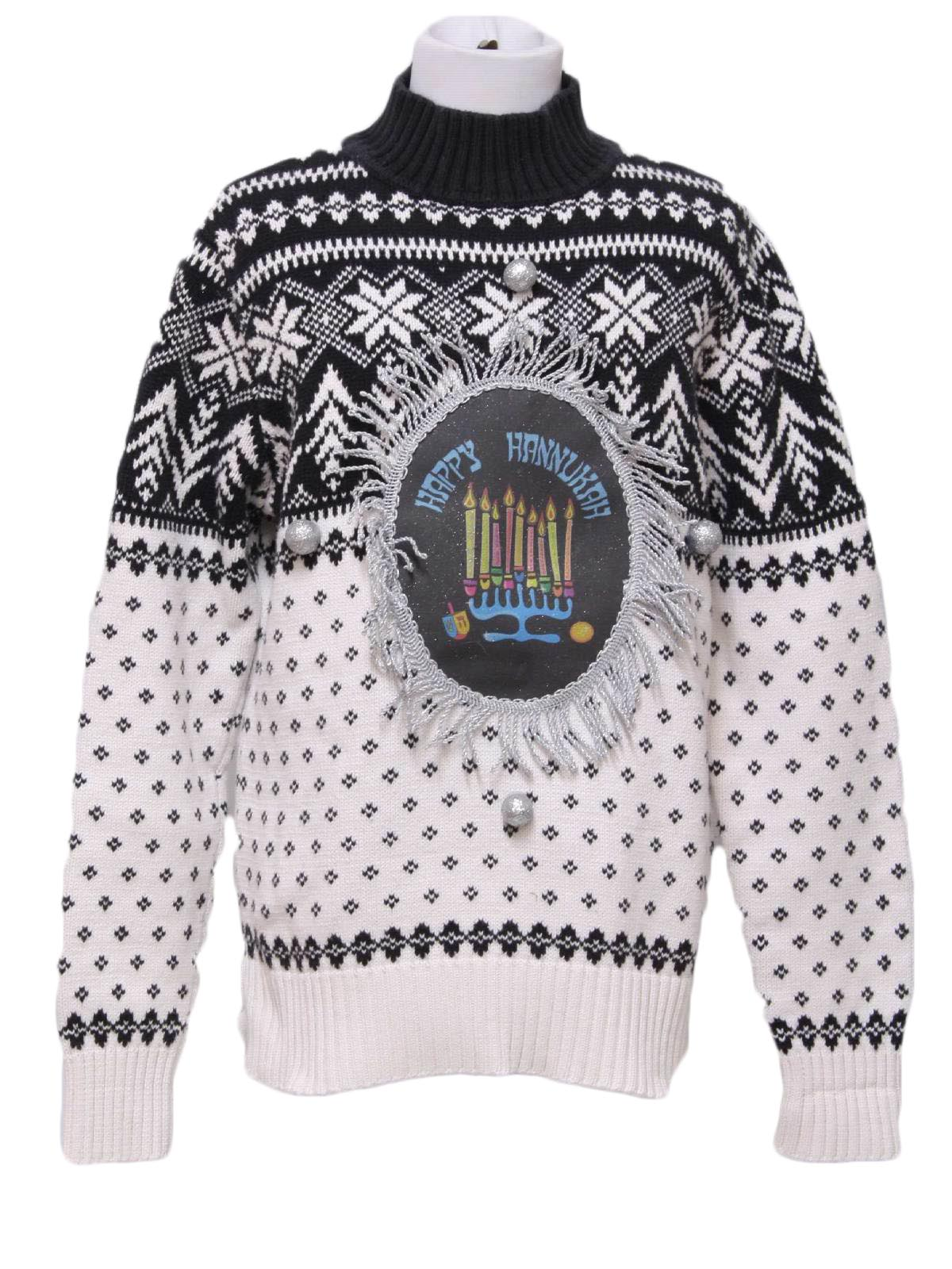 Womens Ugly Christmas Style Hanukkah Sweater: -No Label ...