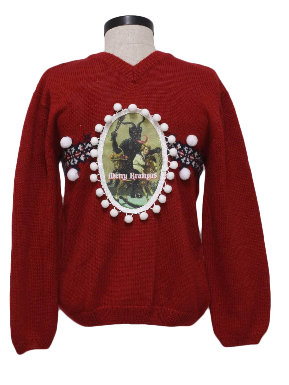 womens or girls ugly krampus christmas sweater old navy scare the little kiddies with your very own krampus sweater in european legend krampus travels