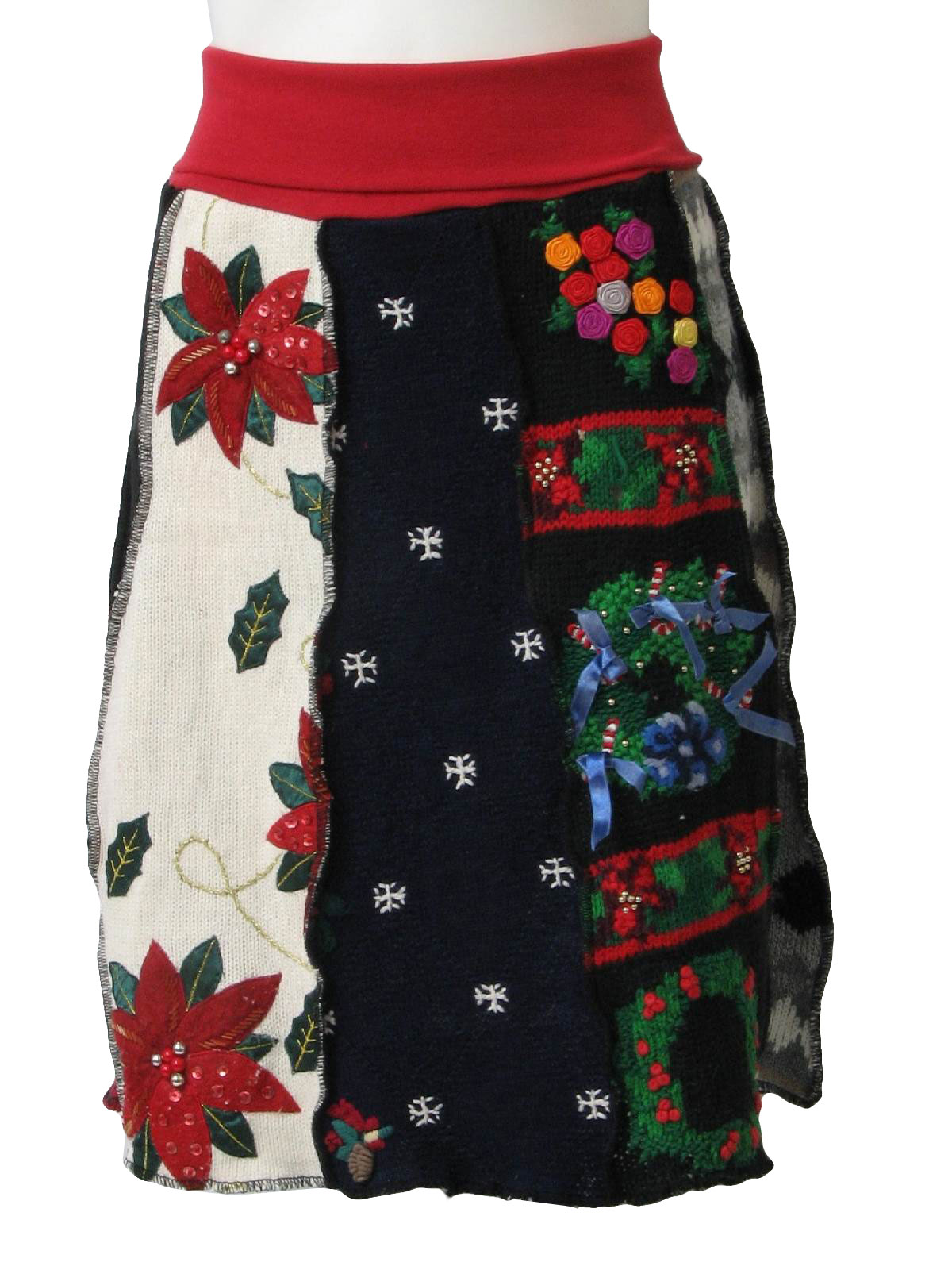1980's Retro Womens Ugly Christmas Sweater Skirt: Womens ...