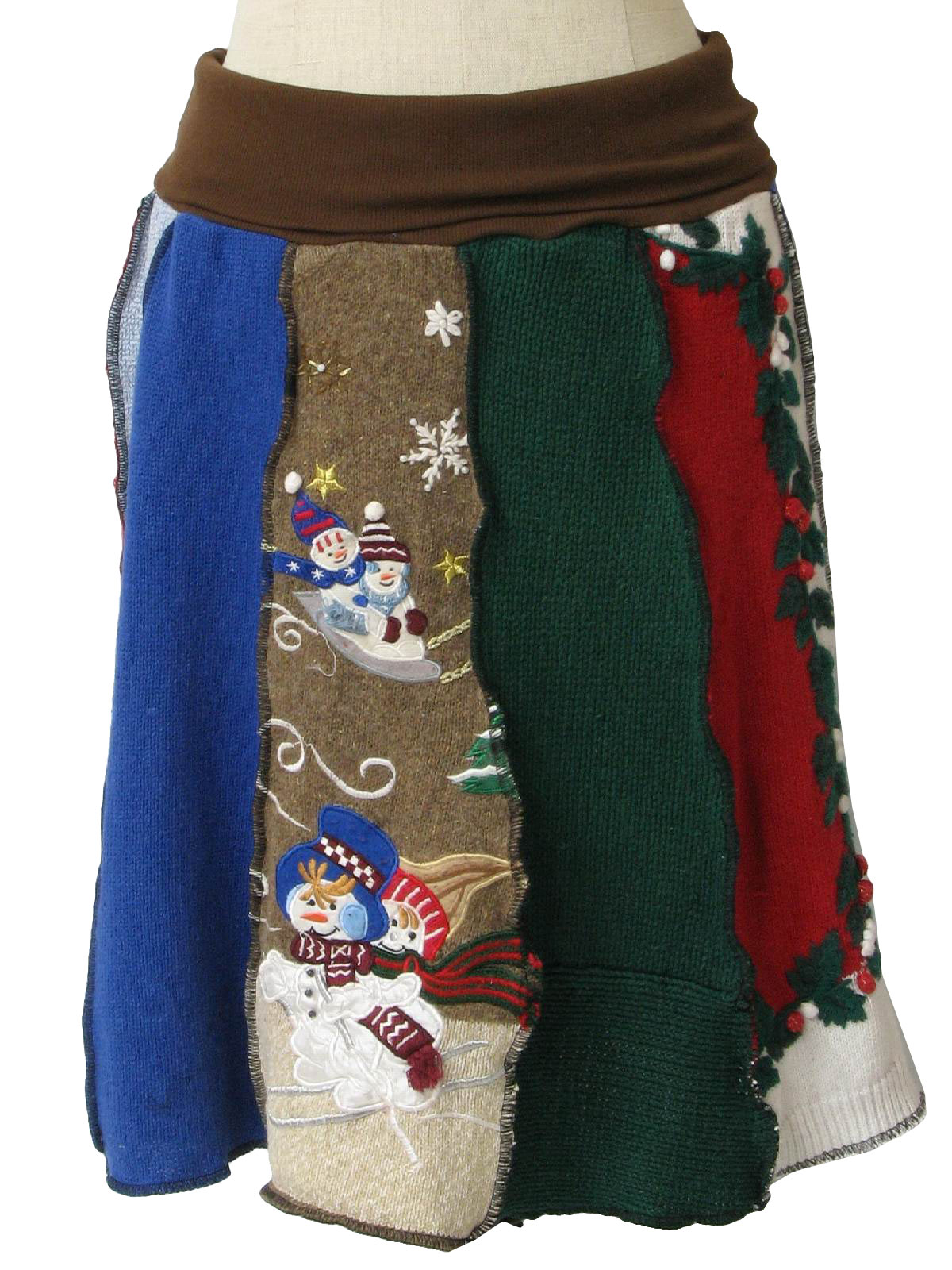 80s retro womens ugly christmas sweater skirt  womens