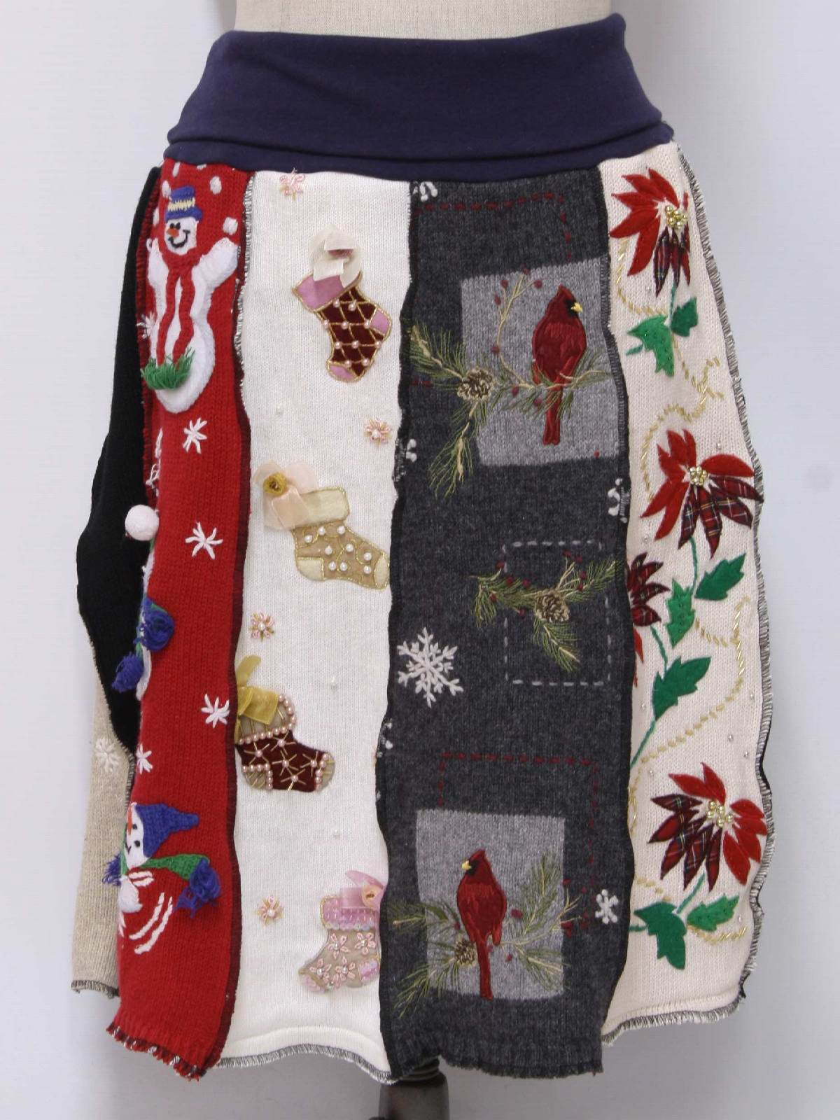 1980's Retro Womens Ugly Christmas Sweater Skirt: Womens Unique one-of