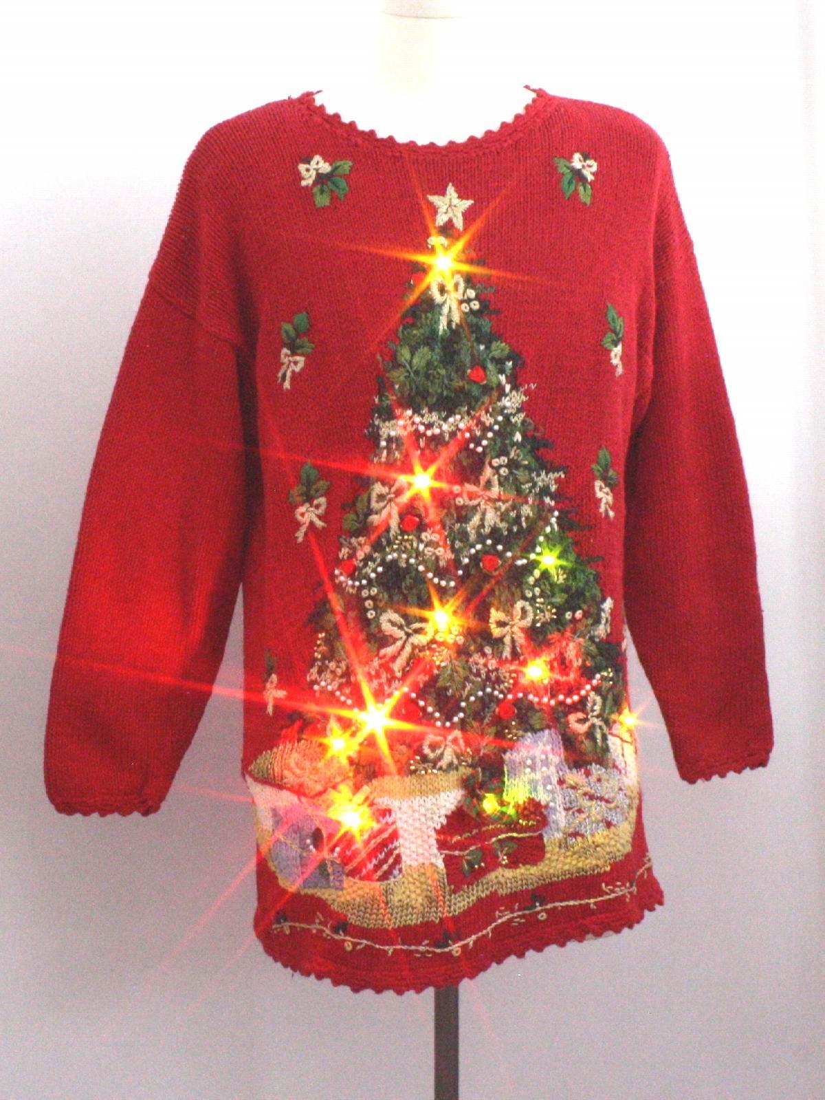 Ugly Christmas Sweater Light Up
