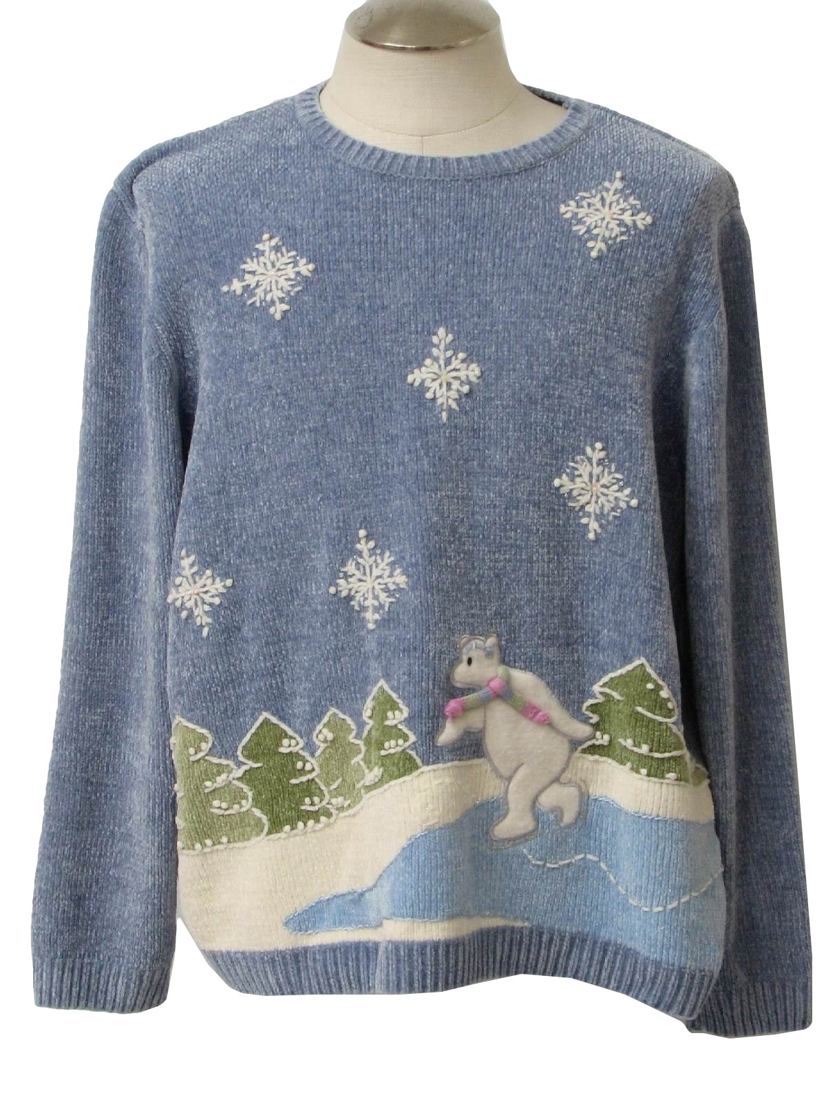 alfred dunner unisex ugly christmas sweater 80s style alfred dunner