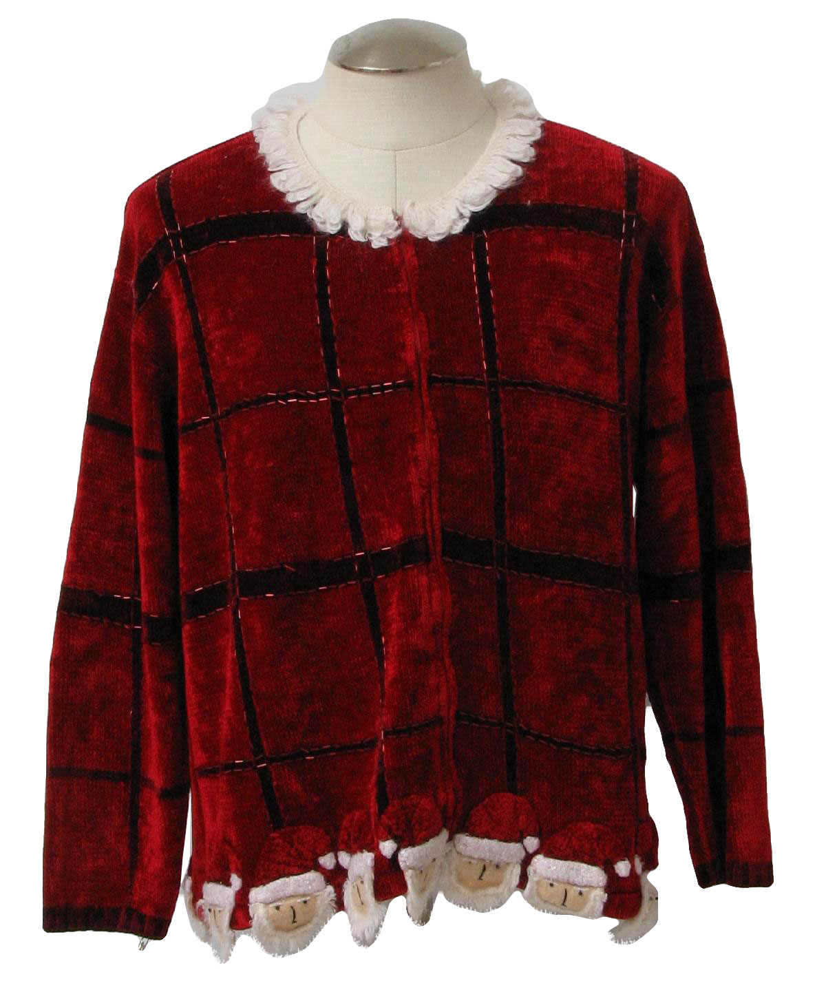 Picture Mens - Ugly Christmas Unisex Santa Suit Sweater, Red