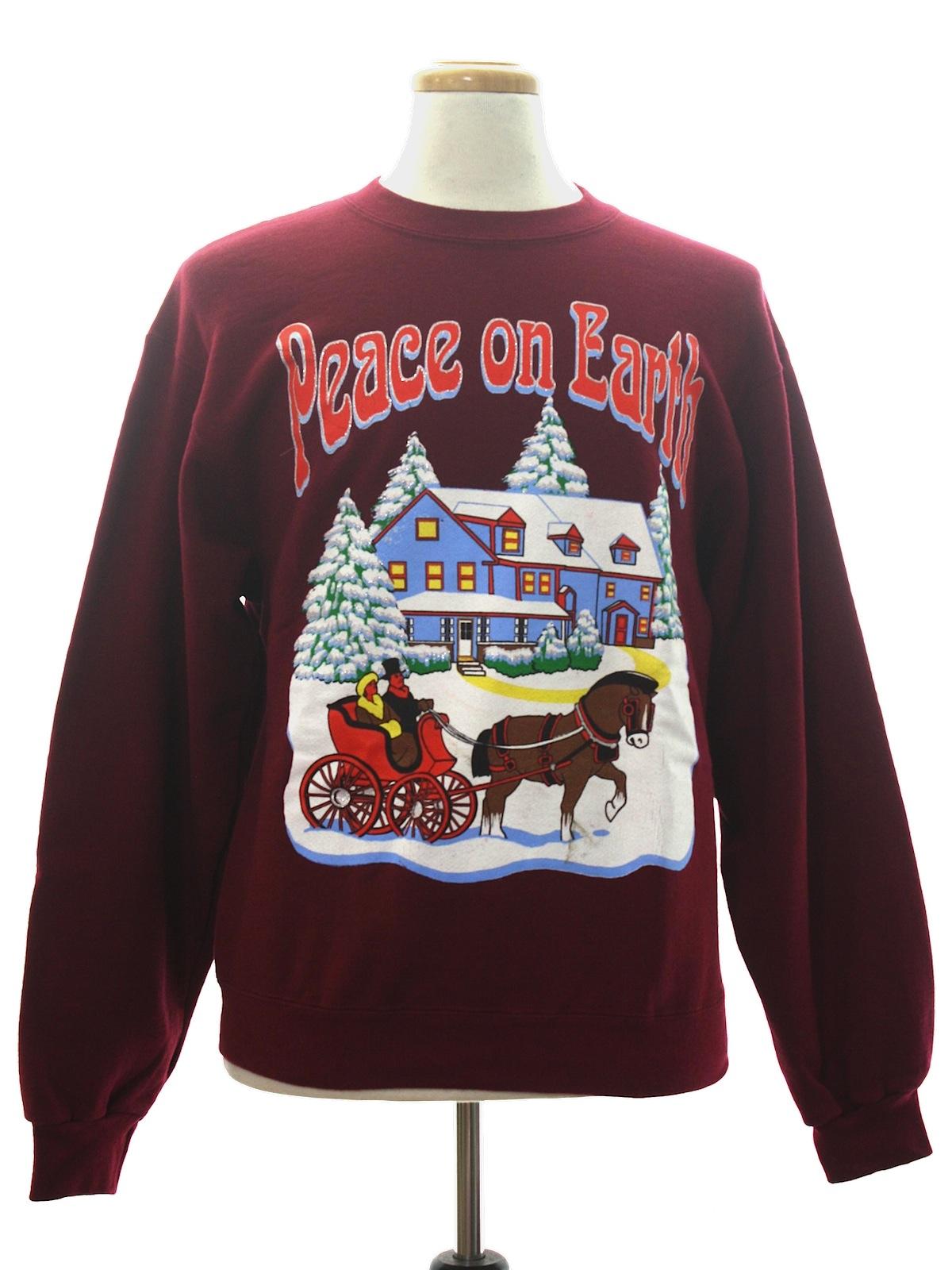 Wine Christmas Sweater.Jerzees Unisex Ugly Christmas Sweatshirt