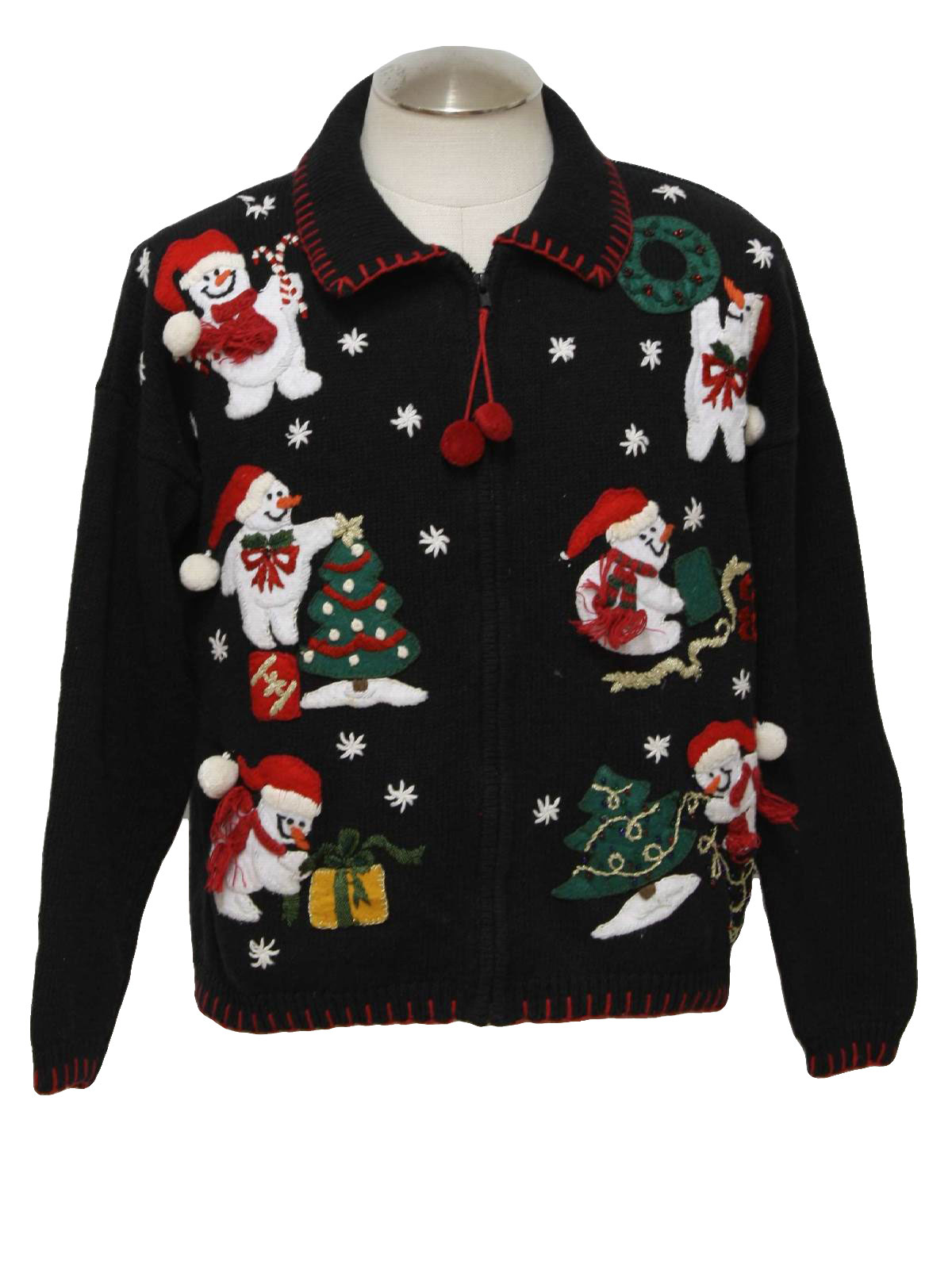 Womens ugly christmas sweater heirloom collectables for Over the top ugly christmas sweaters