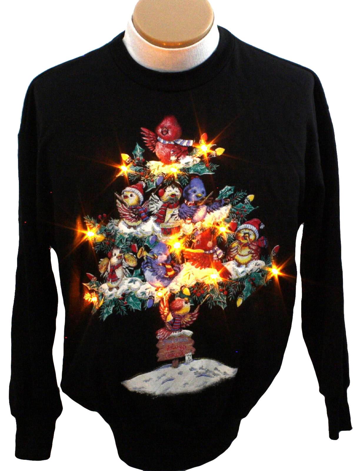 Light Up Ugly Christmas Sweatshirt Nutcracker Unisex