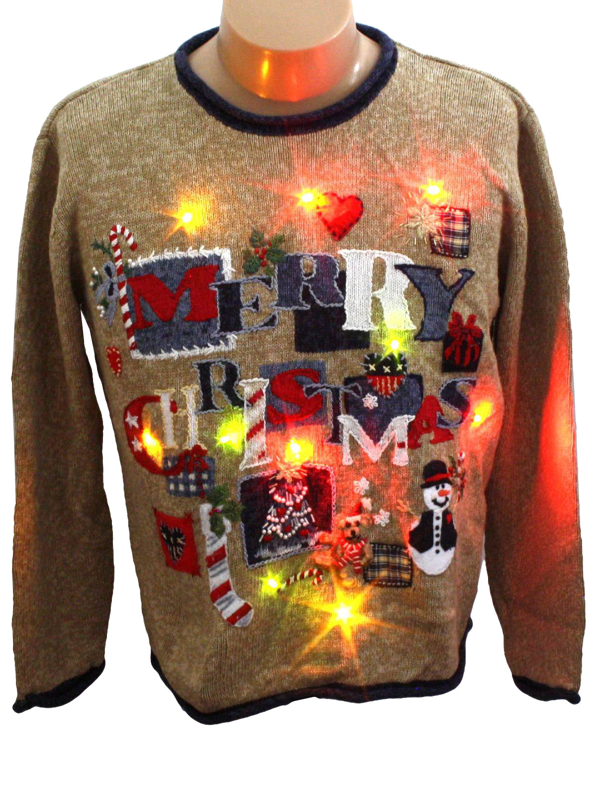 Light Up Ugly Christmas Sweater Heirloom Collectibles