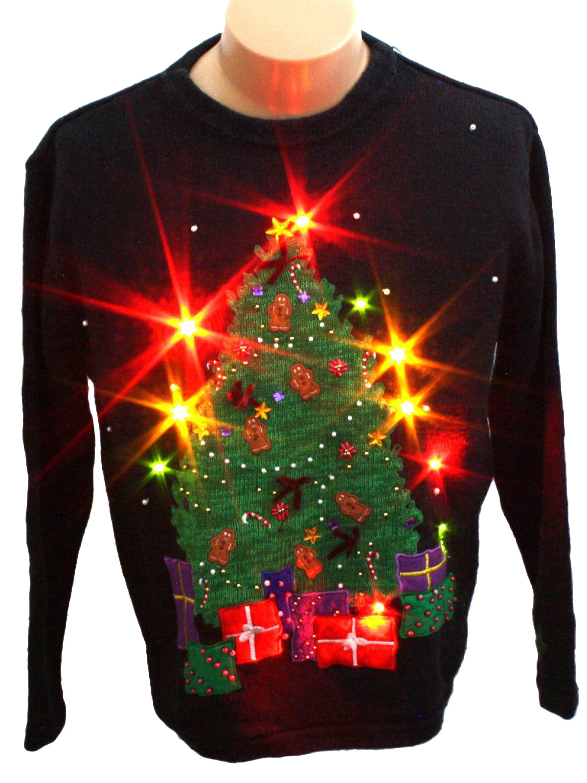 90s Light Up Ugly Christmas Sweater Vest - The Ugly Sweater Shop