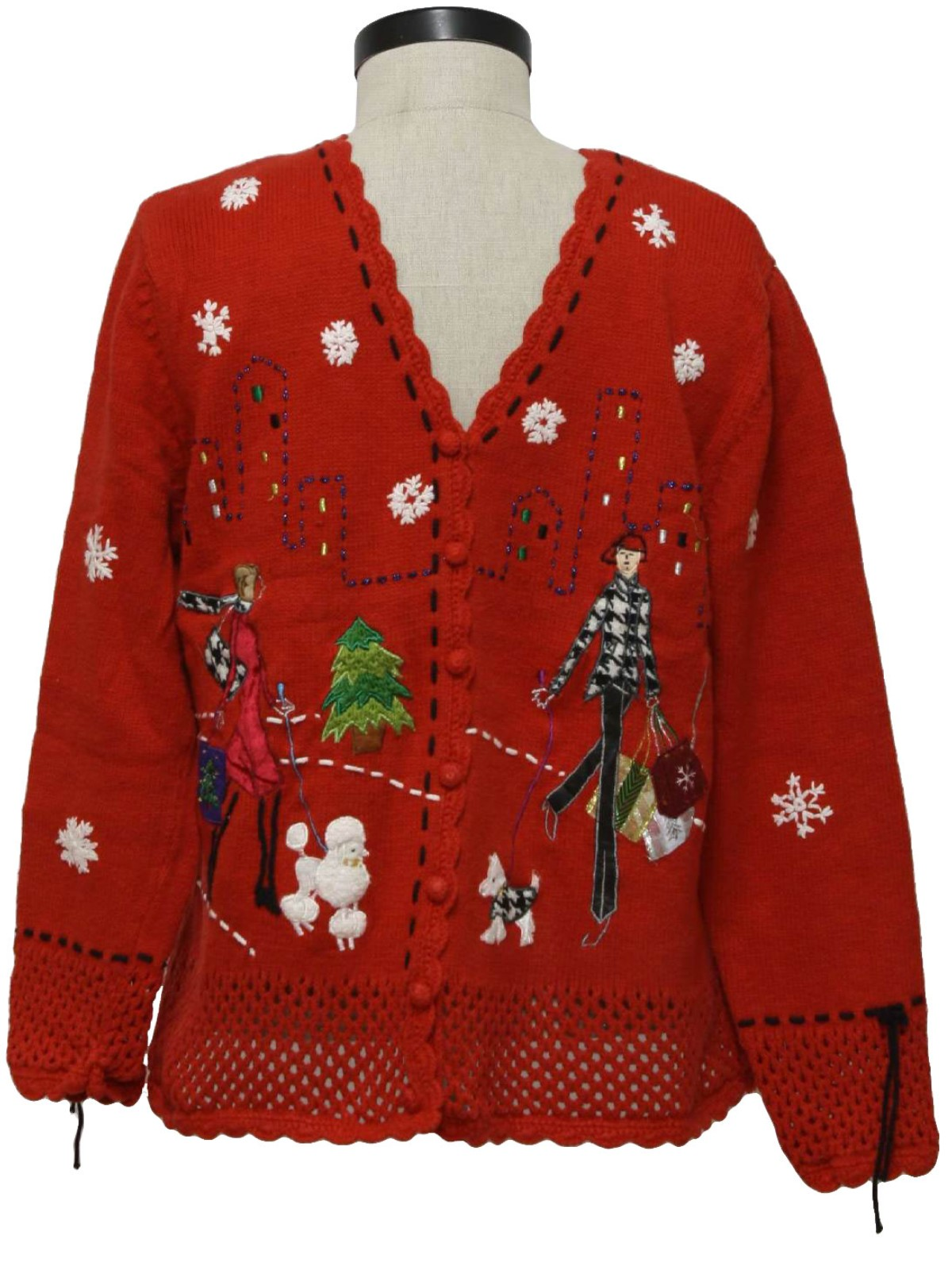 Womens Ugly Christmas Sweater Studio Womens Red