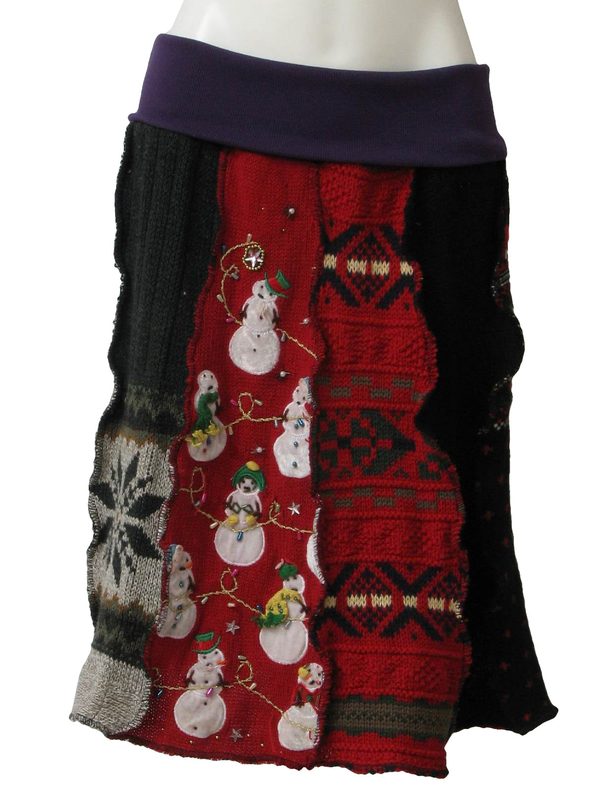 Ugly christmas sweater skirt