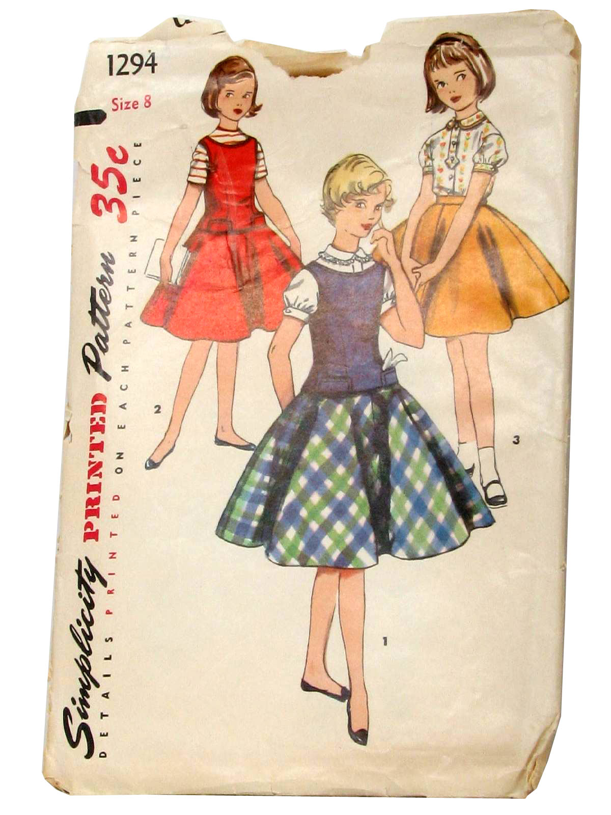 1950's Simplicity Pattern No  1294 Womens/Childs Sewing Pattern