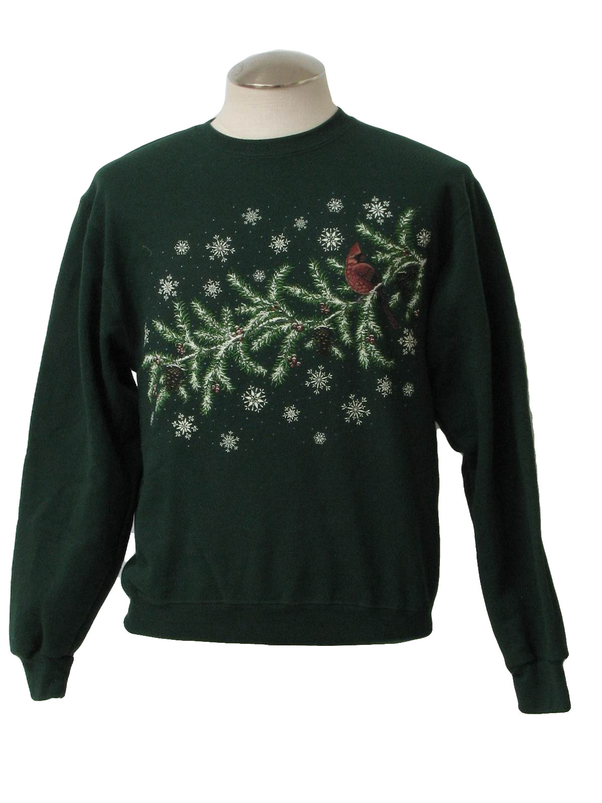 Womens Ugly Christmas Sweatshirt Jerzees Womens Green