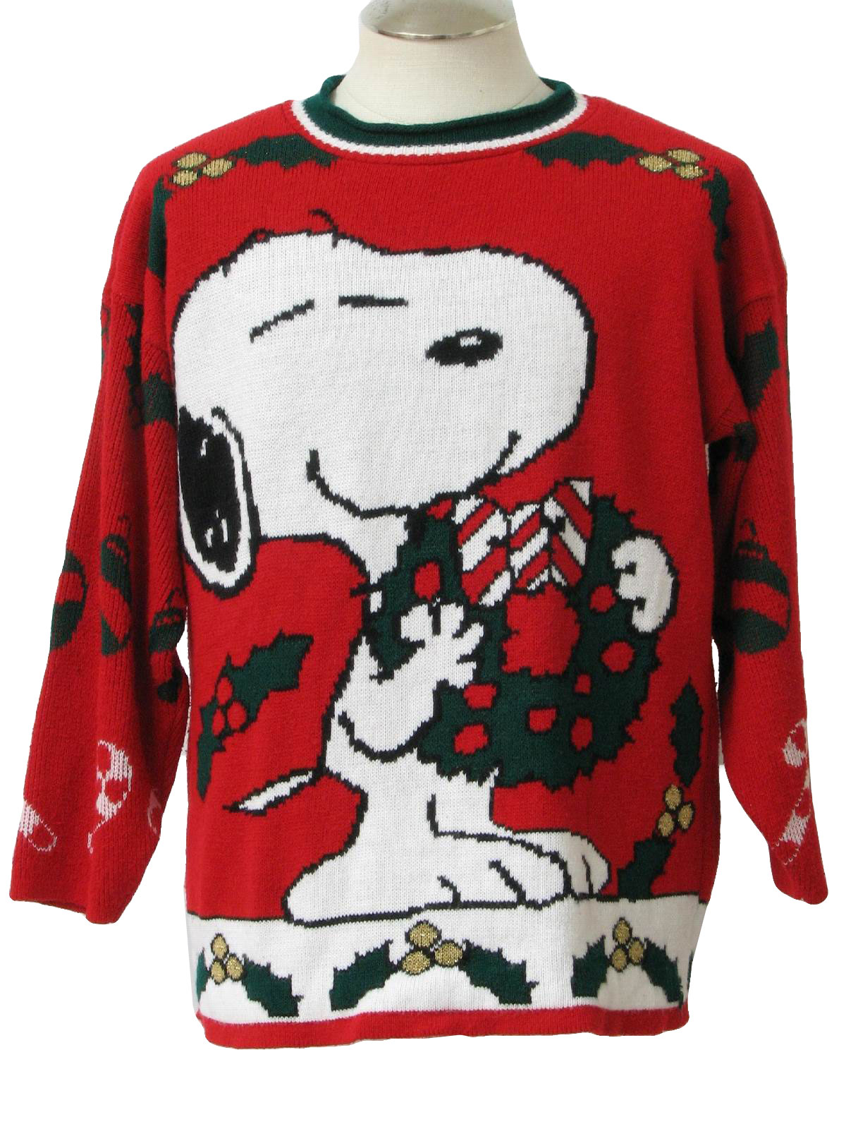 80's Vintage Vintage Snoopy Ugly Christmas Sweater: 80s authentic ...