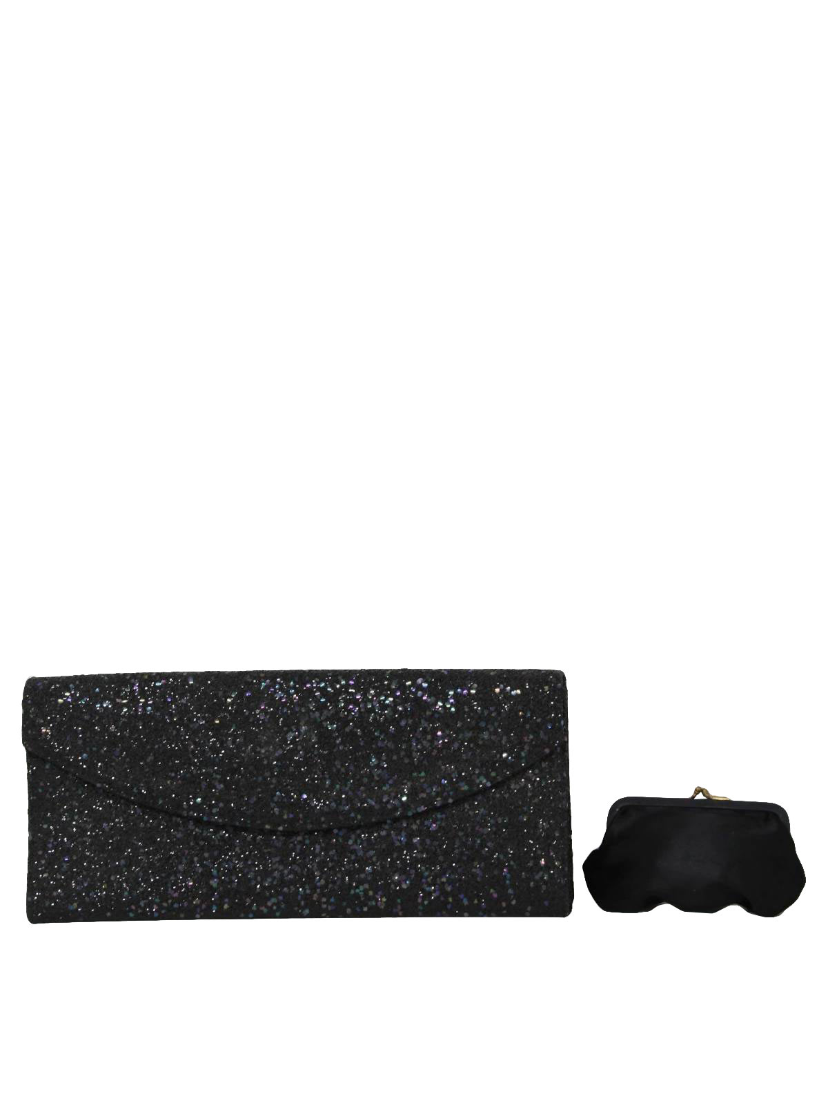 lennox bags vintage. 50s retro pin: early -lennox bags- womens black shimmery textured evening style clutch purse with single flap top envelope closure. lennox bags vintage r