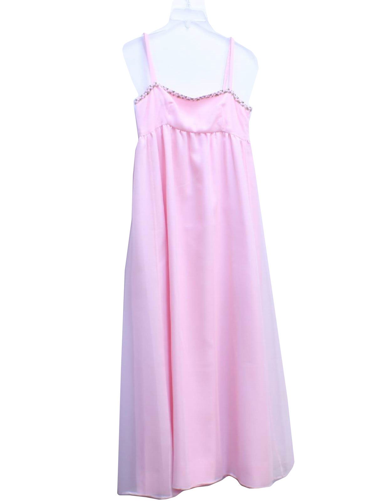 Retro 60\'s Cocktail Dress: 60s -No Label- Girls baby pink, gown ...