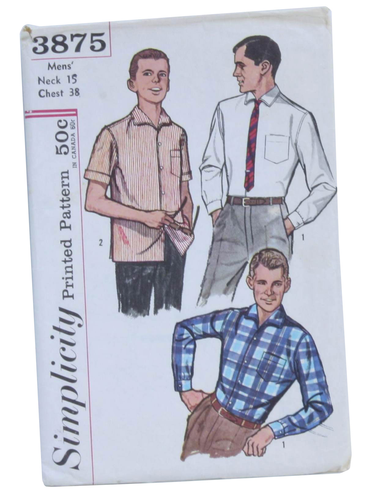 60s Retro Sewing Pattern: c.1960 -Simplicity Pattern No. 3875- Mens ...