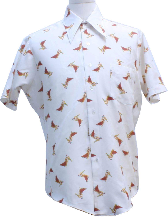 Retro 1970 39 s print disco shirt kmart 70s kmart mens for Kmart button up shirts