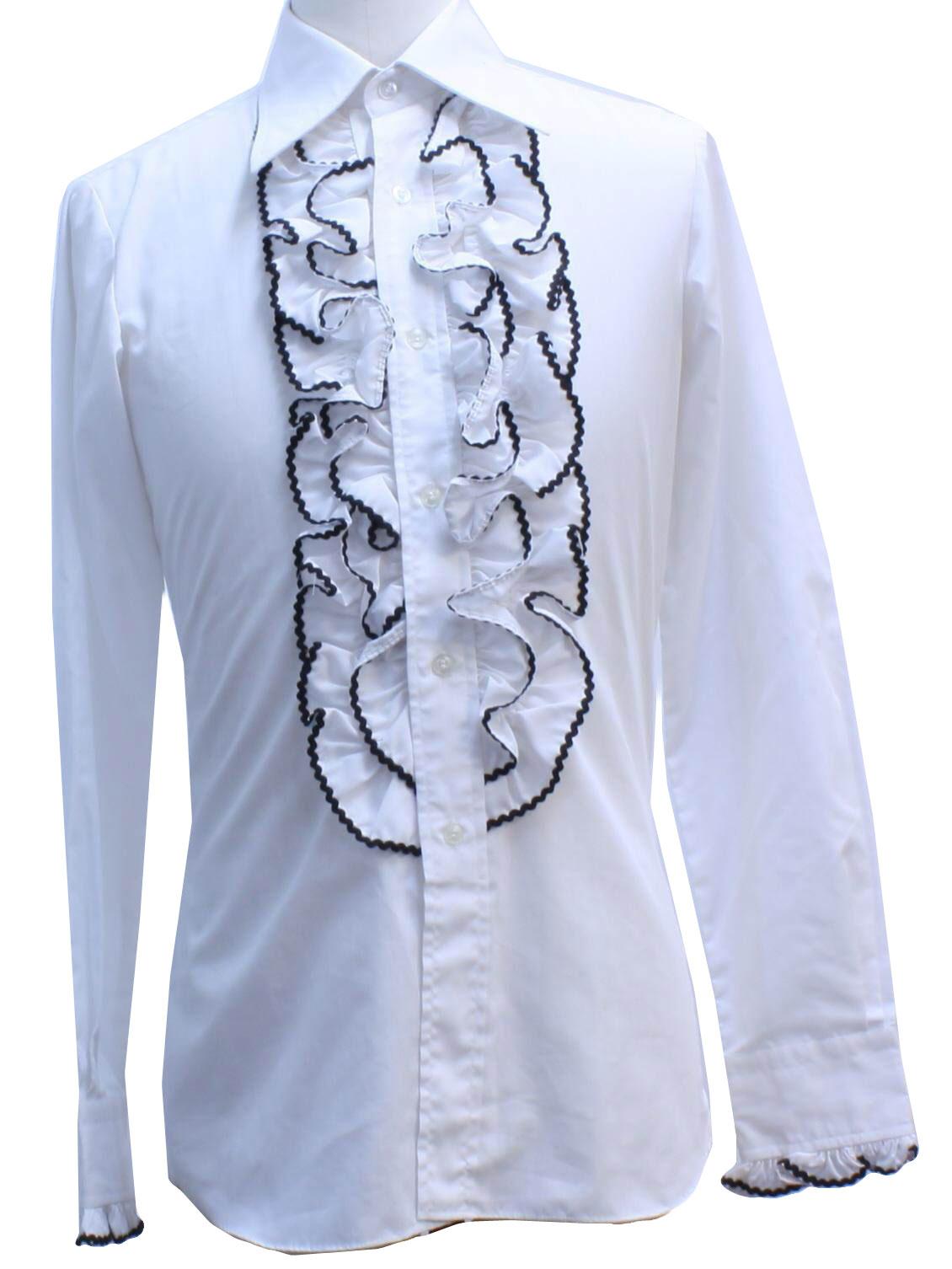 Womens Black Shirt With White Collar