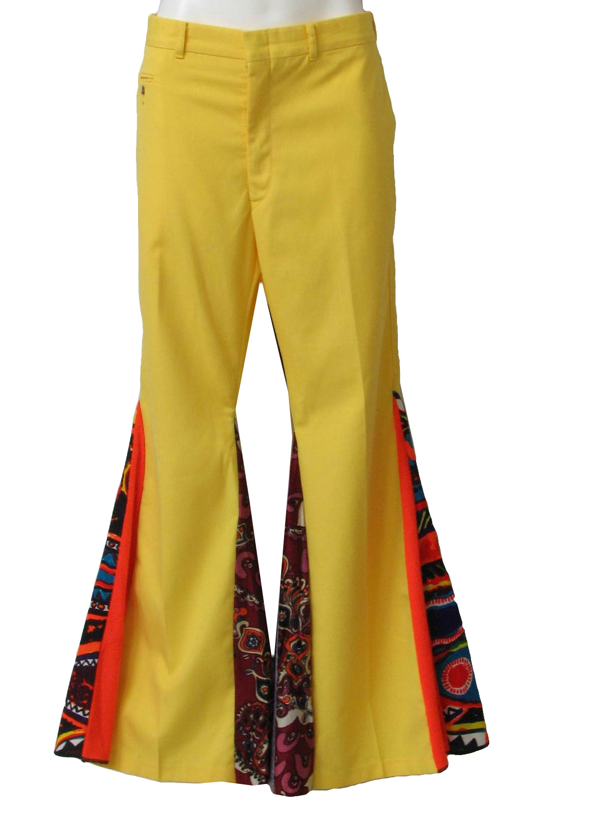 Retro Seventies Bellbottom Pants: 70s -No Label- Mens bright ...
