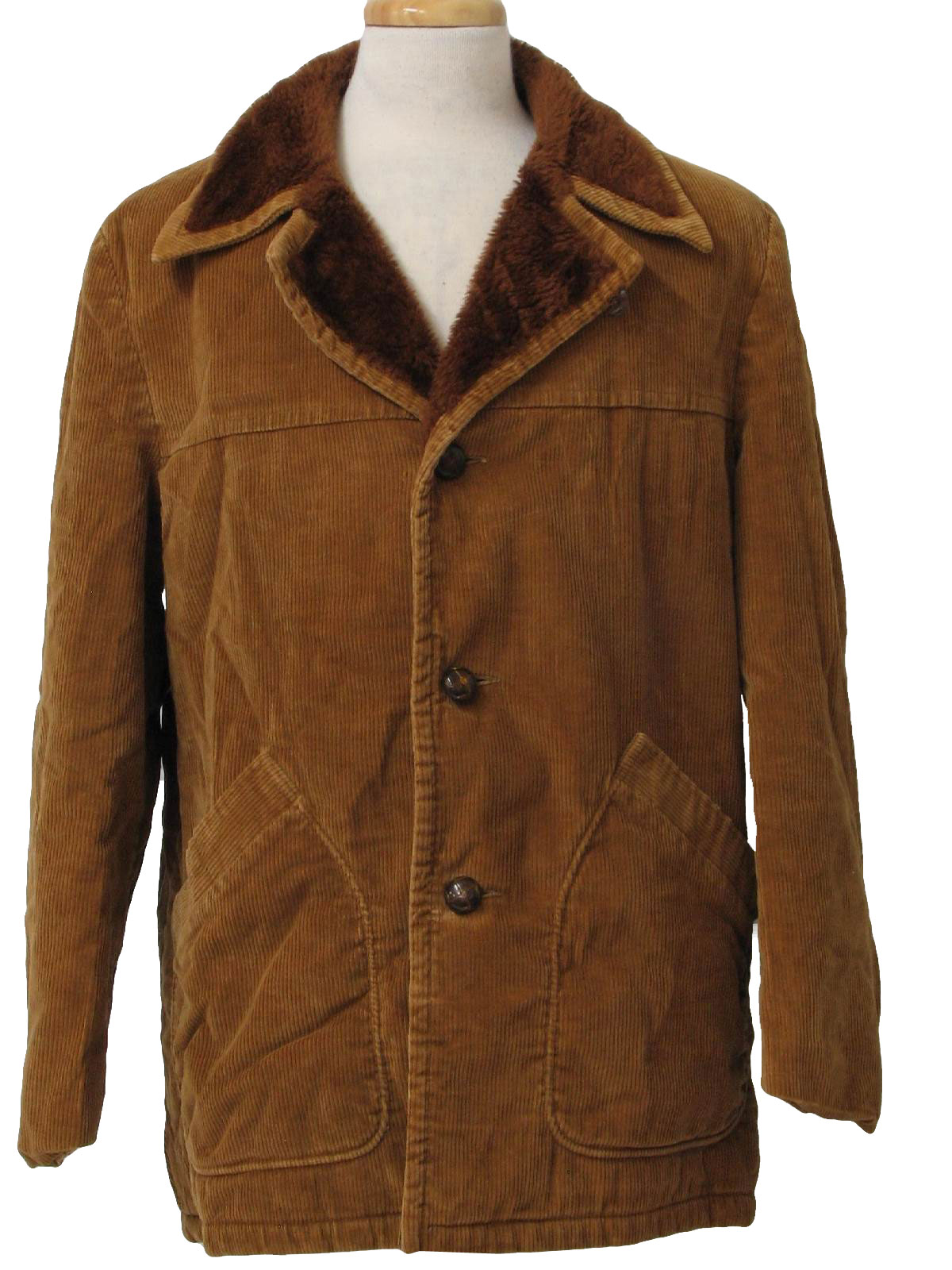 Mens Brown Car Coat