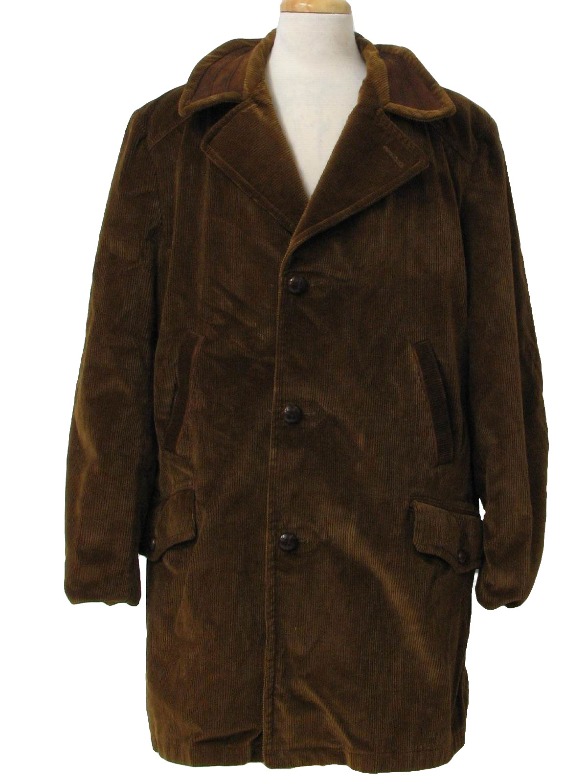 70's Vintage Jacket: 70s -Sears- Mens rust brown corduroy car coat ...