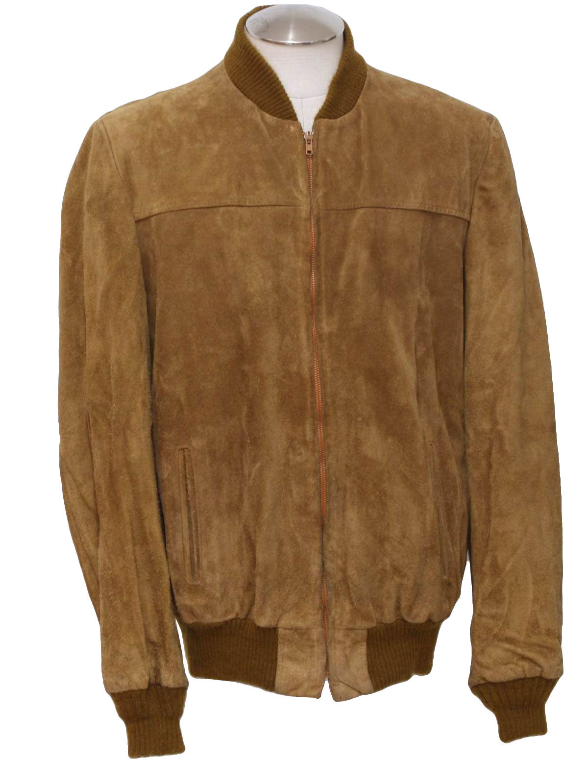 Brown suede leather jacket mens