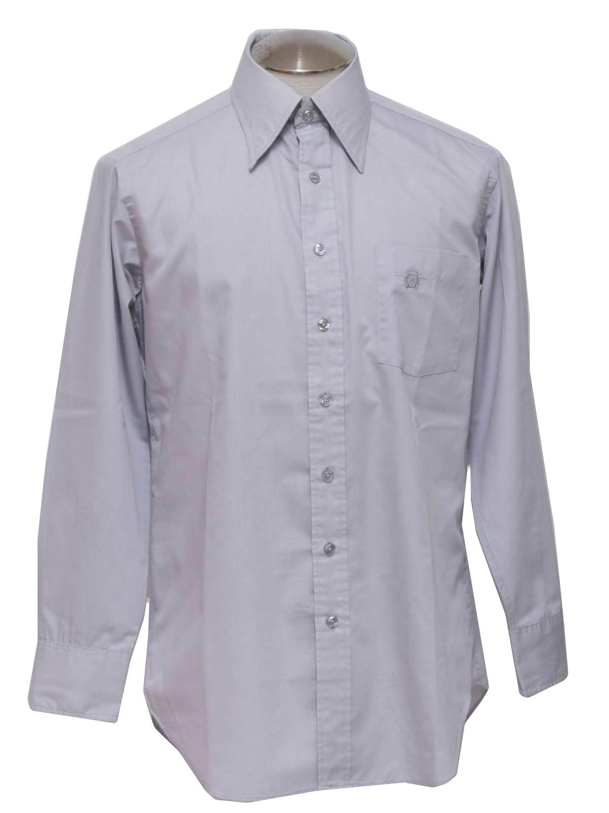 70s Shirt 70s Oleg Cassini Couture Collection Designer Mens