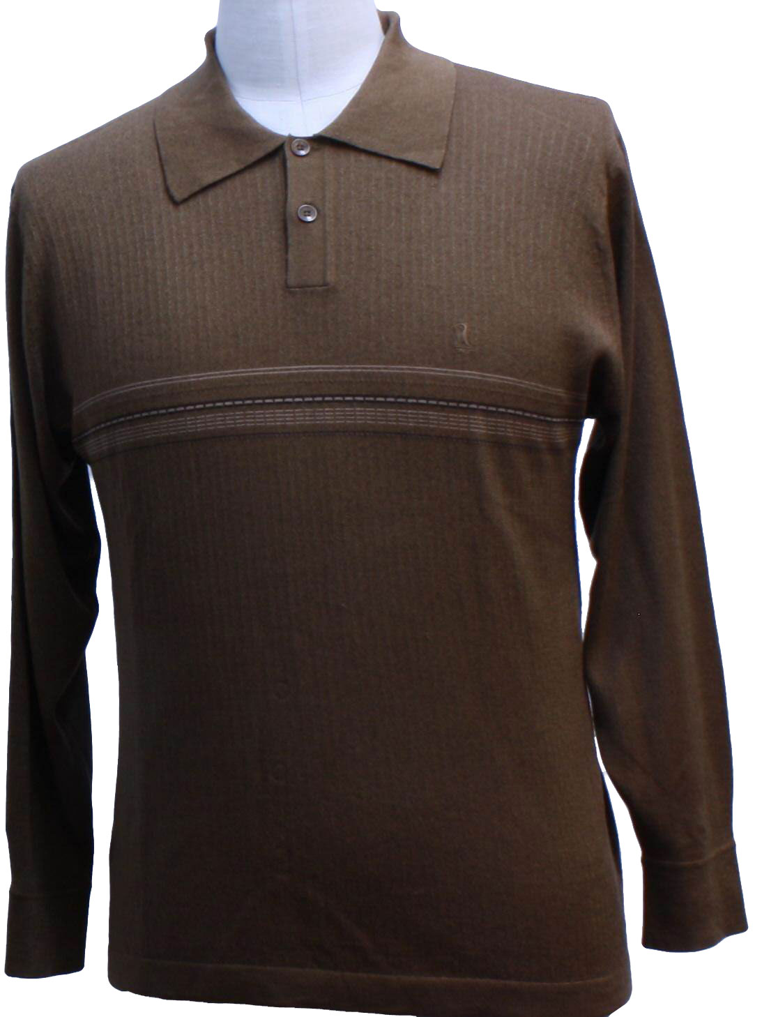 1990 39 s knit shirt missing label 90s missing label for Mens chocolate brown shirt