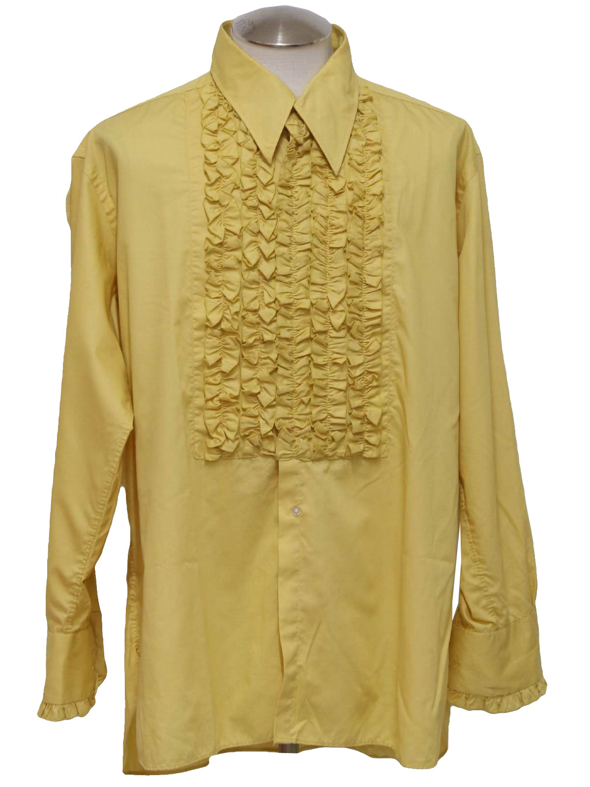 After six seventies vintage shirt 70s after six mens for Mens shirts with cufflink holes