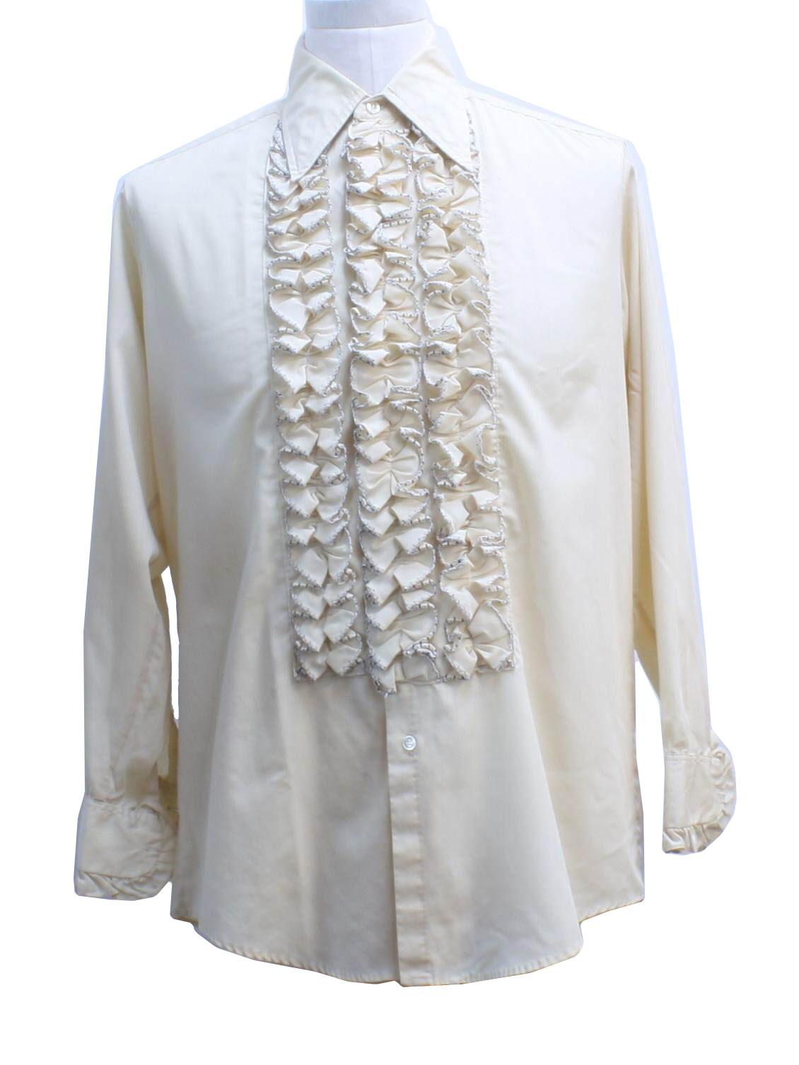 Retro 1970 39 S Shirt Delton 70s Delton Mens Tan