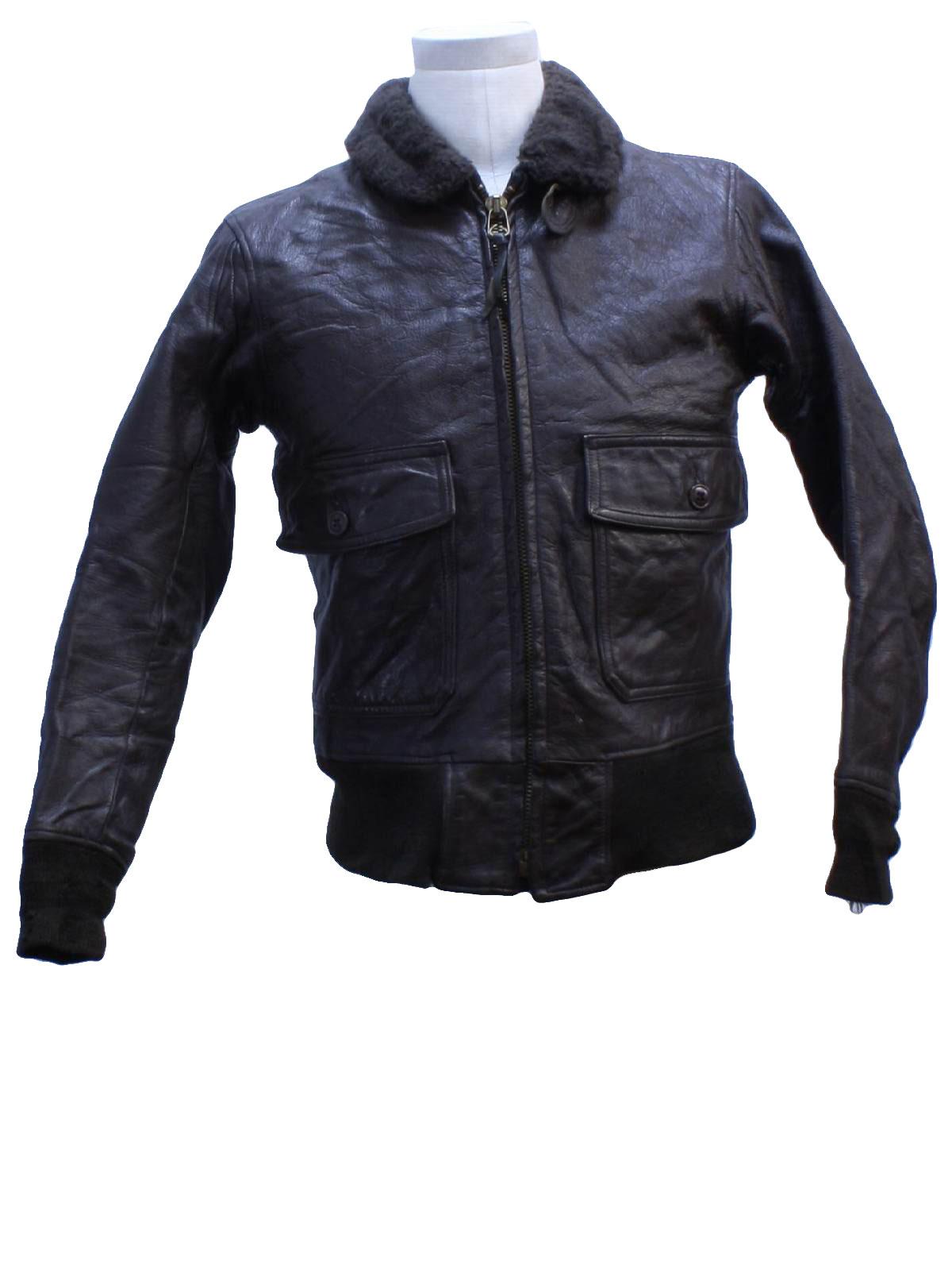 International Military Supply 60's Vintage Leather Jacket: 60s ...