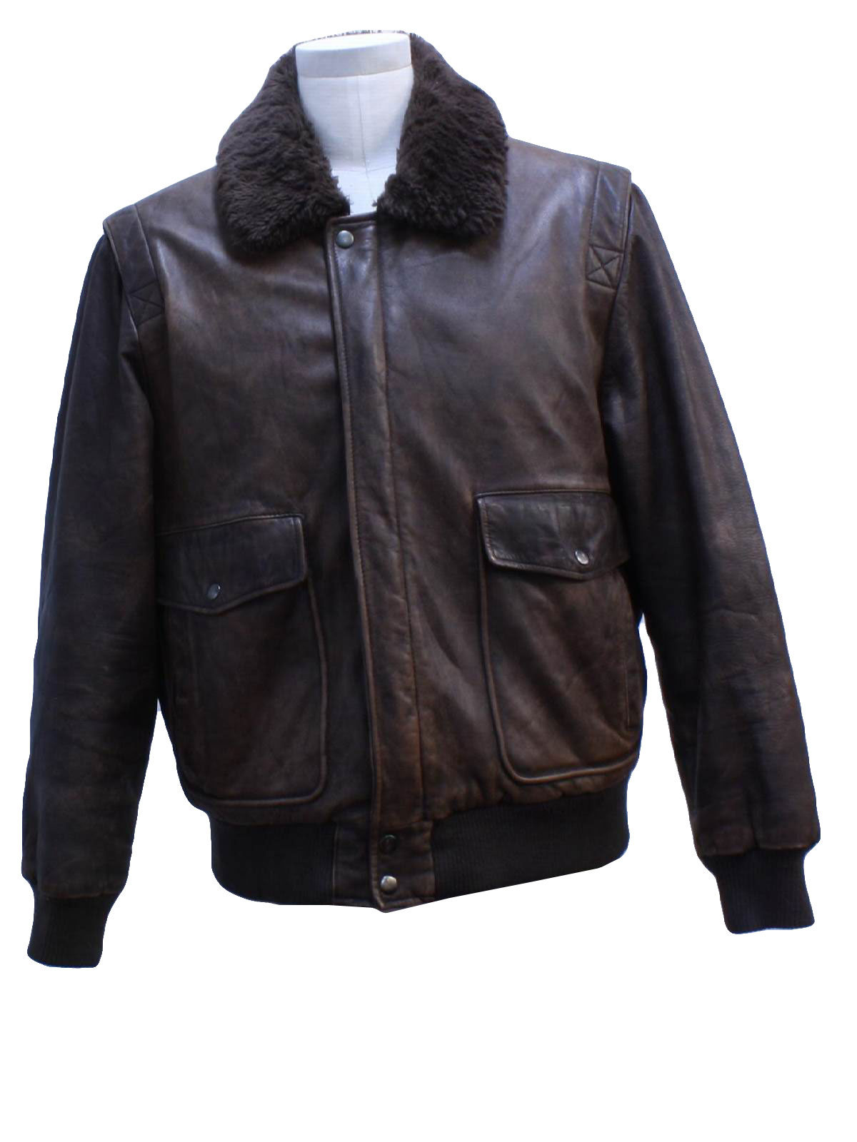 1980's Leather Jacket (Aberdeen): 80s -Aberdeen- Mens soft dark ...