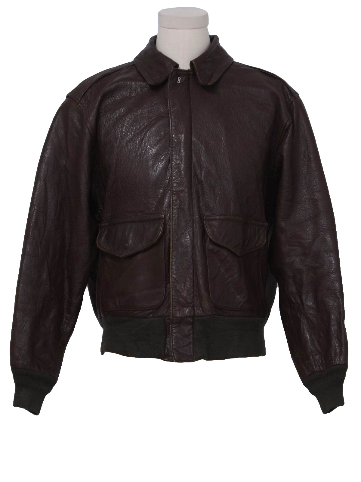 mens leather bomber jacket 50s style made in 70s avirex unlimited mens