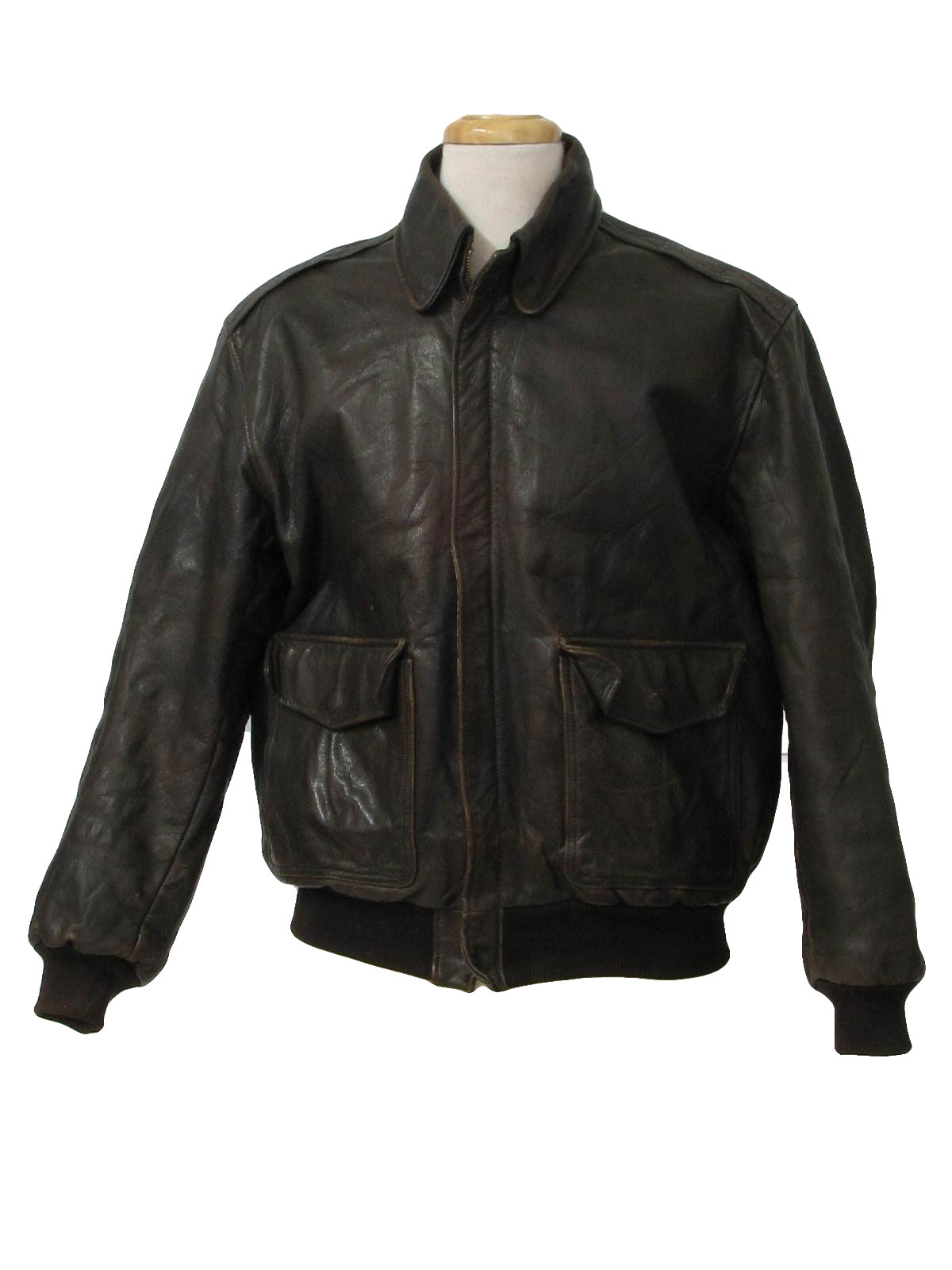 Vintage 1970's Leather Jacket: 70s (50s look) -Avirex Unlimited ...
