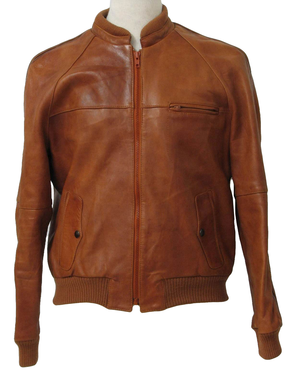 Vintage Care Label Only 1980s Leather Jacket: 80s -Care ...