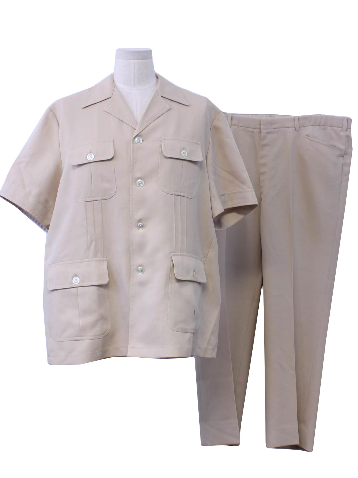 1980s Vintage Leisure Suit Early 80s No Label Mens Two