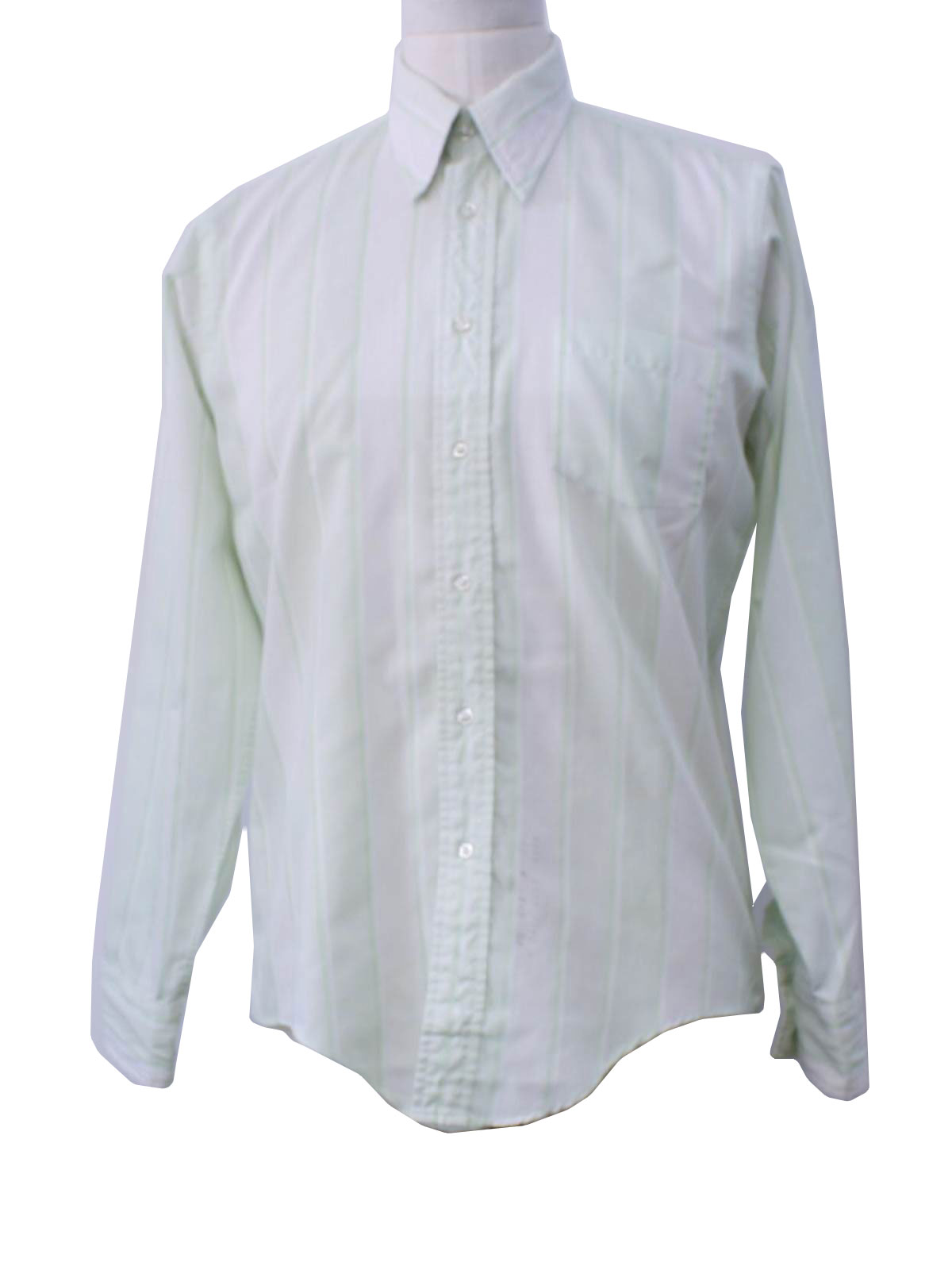 Vintage 70s Shirt 70s No Label Mens White Background With Mint