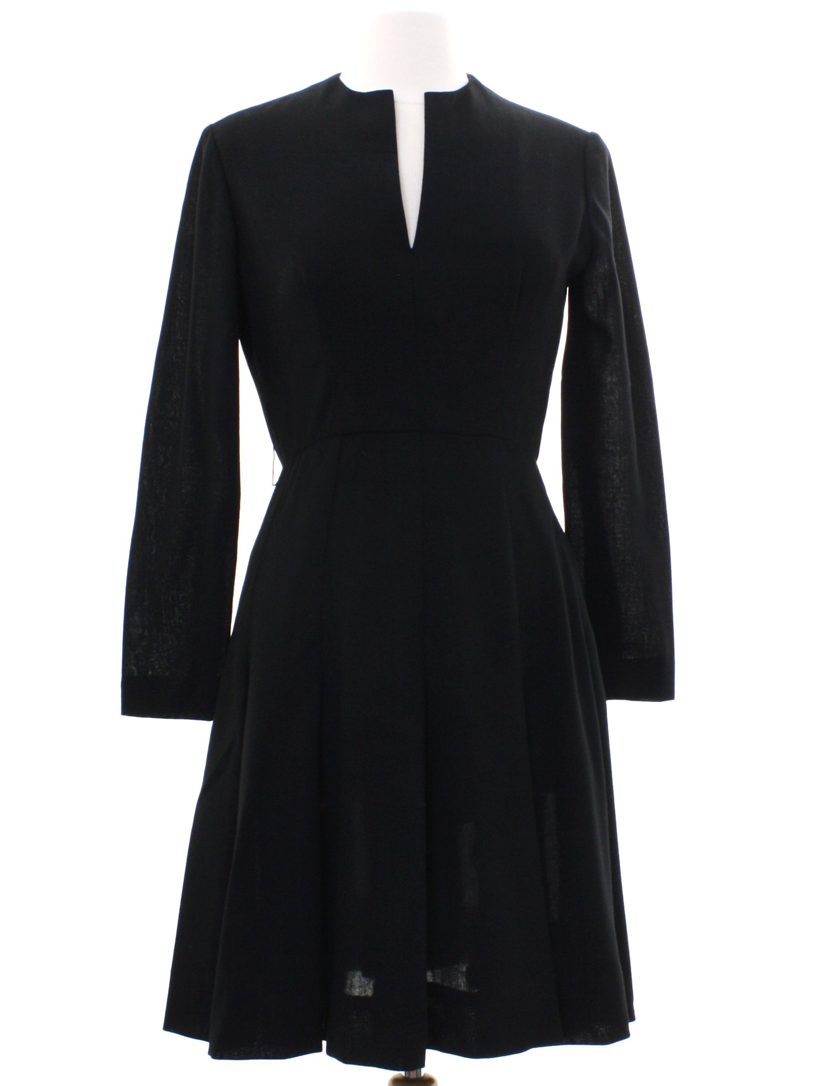 87299d77c874 1970's Retro Dress: Early 70s -By Brodkin- Womens black background ...