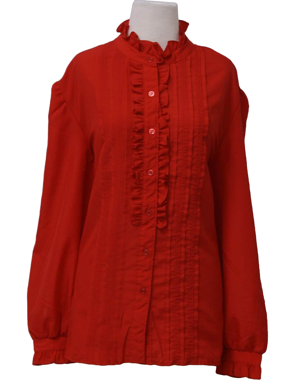 80s David Peet Womens Red