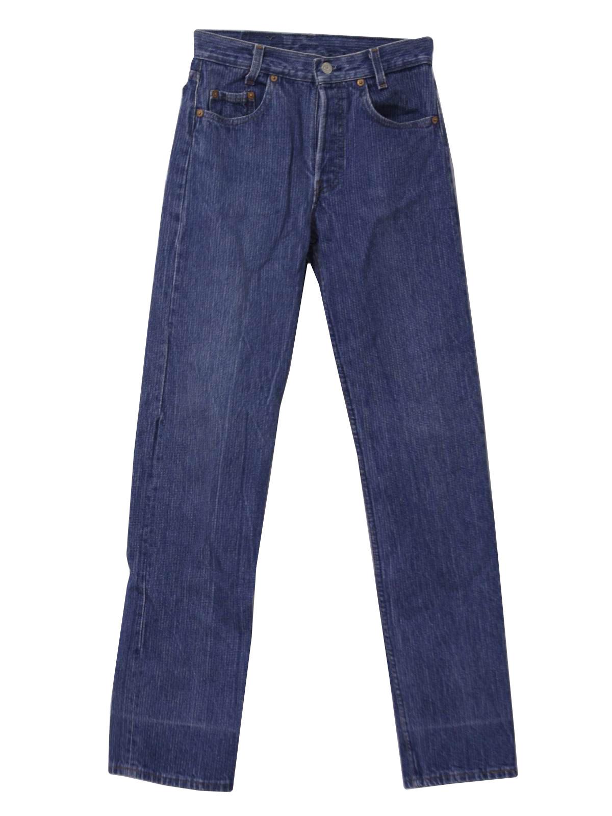 Vintage Levis 501 1990s Pants 90s -Levis 501- Womens shaded blue on blue background faint ...