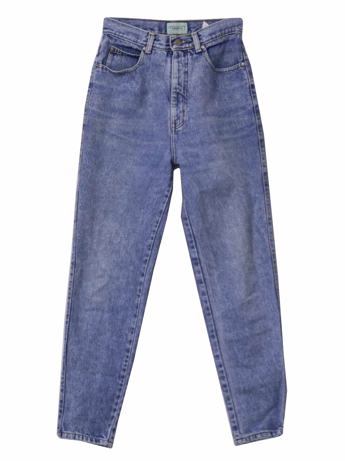 wicked 90s acid washed jeans pants early 90s sassoon womens light blue ...