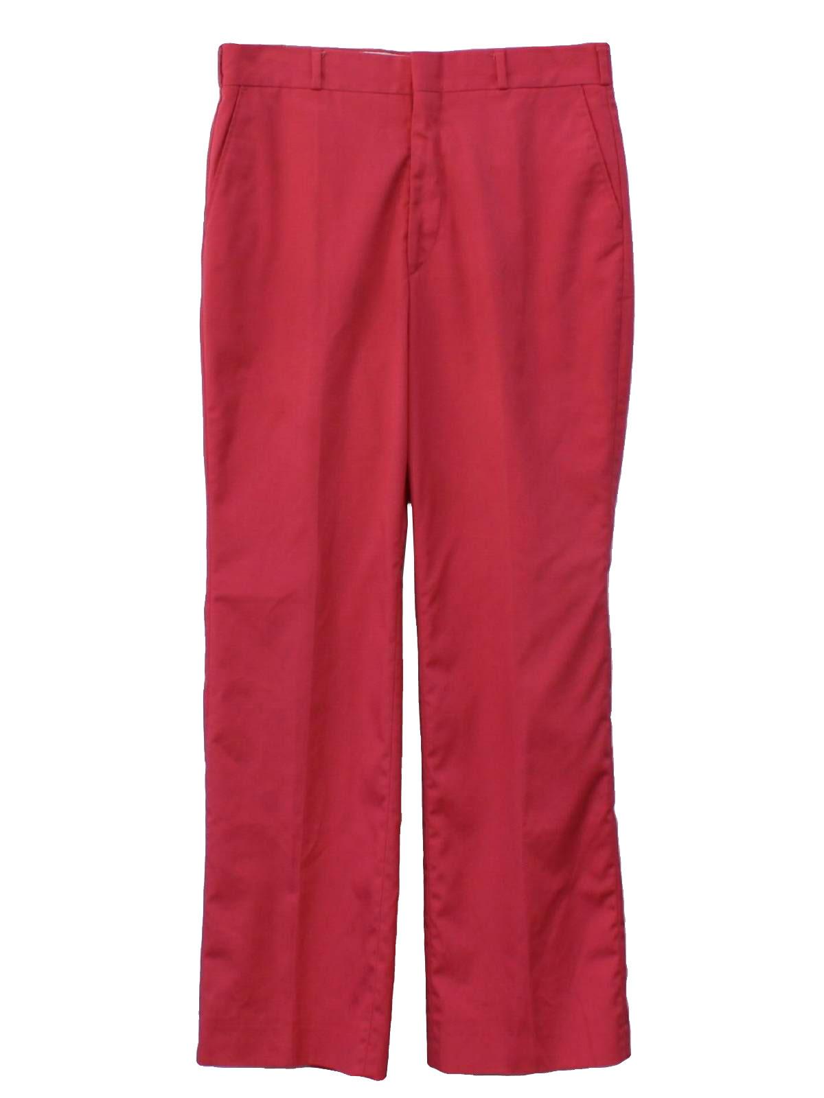 80's Vintage Pants: 80s -Thomson- Mens salmon solid ...