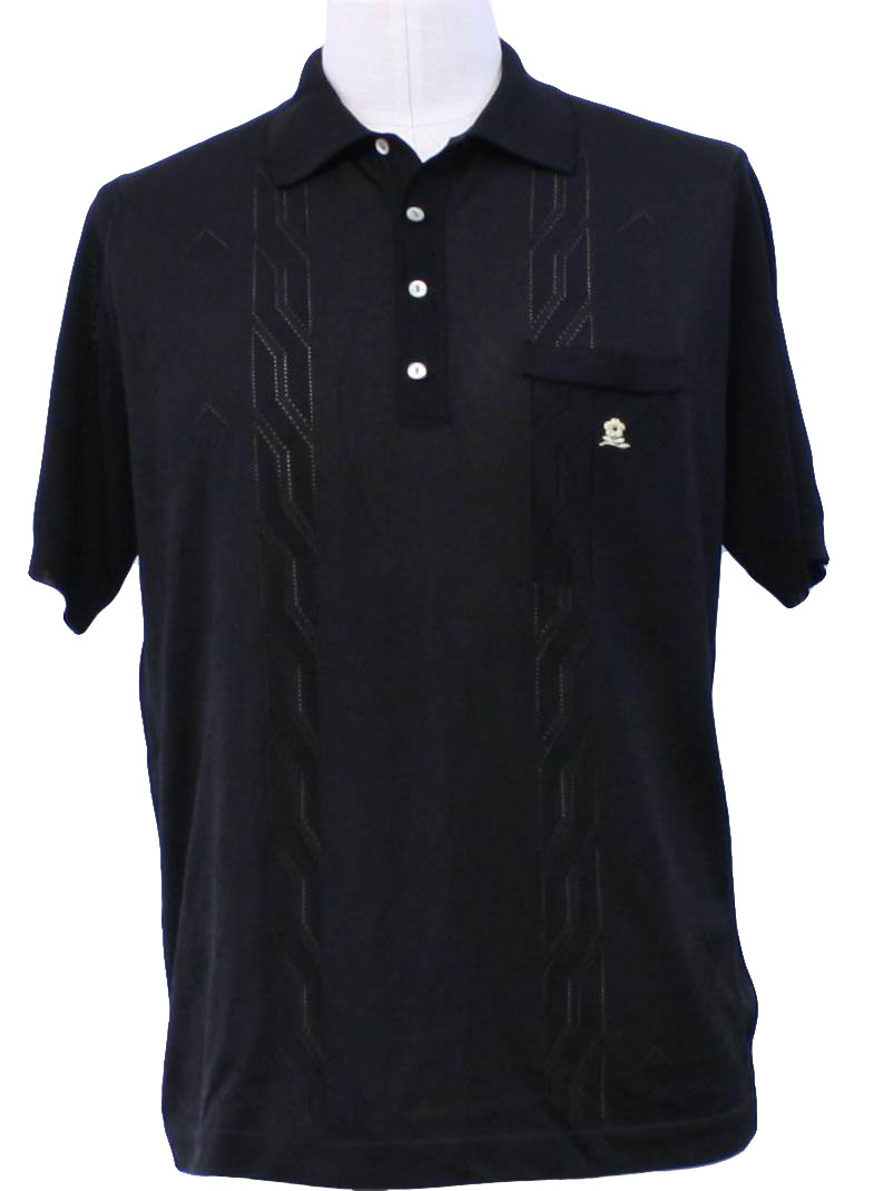 Mens Black Striped Shirt