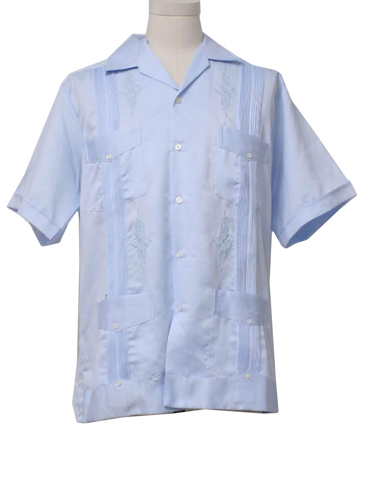 Retro 1980's Guayabera Shirt (Zava) : 80s -Zava- Mens ...