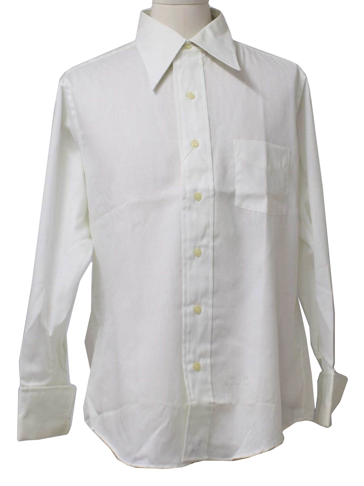 Damon 1970s Vintage Shirt 70s Damon Mens White
