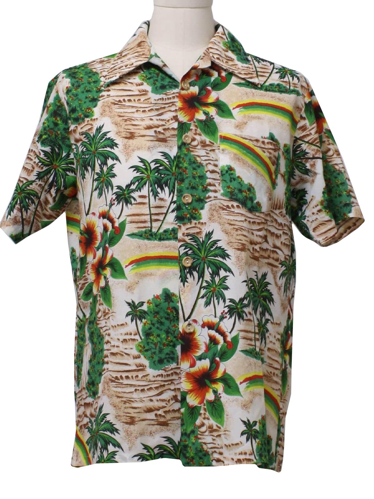 1dfd12a5023fd Retro 1970 s Hawaiian Shirt (Towncraft JC Penney)   70s -Towncraft ...