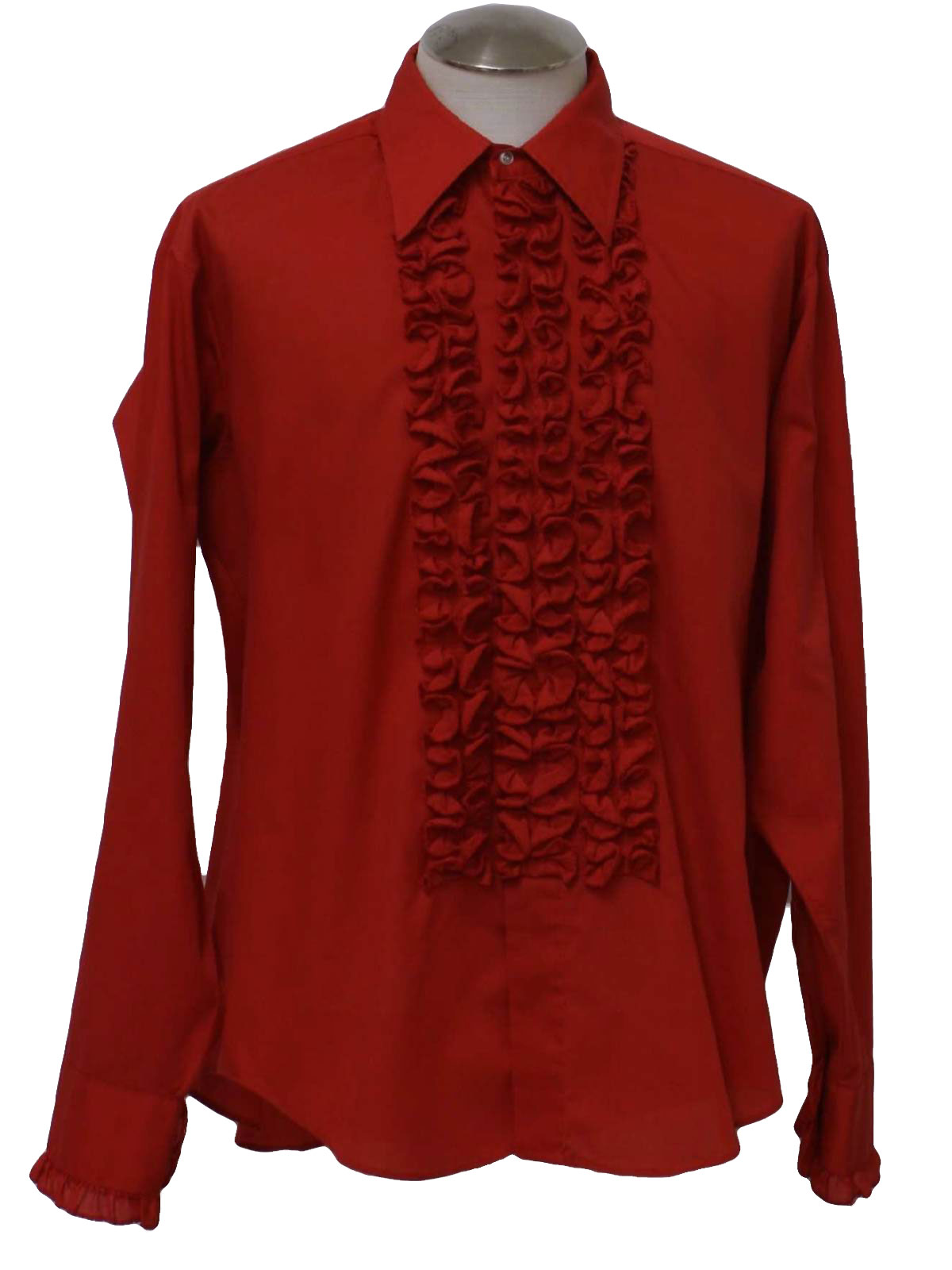 70 39 s vintage shirt 70s jims formal wear mens red for Can you wear cufflinks on a regular shirt