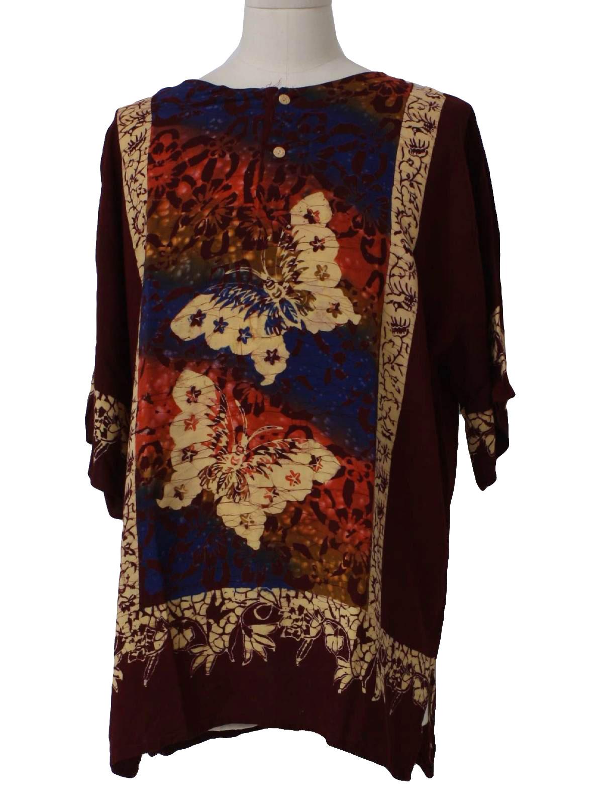 Eighties Batik Solo Tugu Agung Hippie Shirt  80s -Batik Solo Tugu ... 6e400706cb