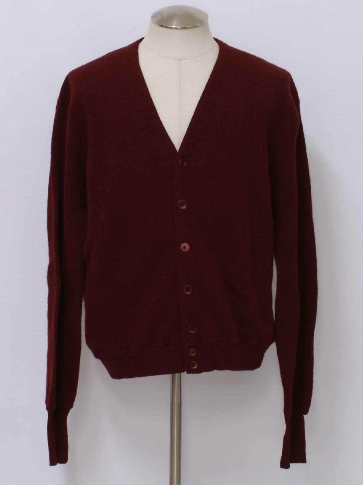 Vintage Lord Jeff 60's Sweater: 60s -Lord Jeff- Mens burgundy wool ...